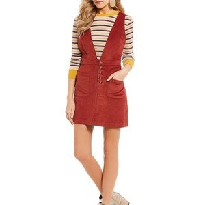 GB corduroy overall dress Rust color JRS L NWT